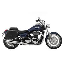 triumph thunderbird motorcycle saddlebags spear shock cutout leather