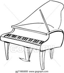 vector stock piano doodle clipart illustration gg71665800 gograph