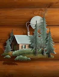 rustic metal lodge style wall sculptures wild wings rustic cabin