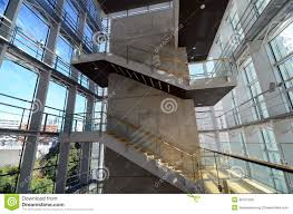 stairwell in a modern building royalty free stock photos image