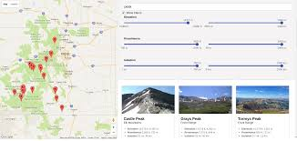 Alamosa Colorado Map by Mapping Colorado U0027s 14er Mountains React And Redux Mega Tutorial