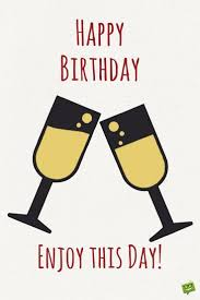 champagne cartoon happy birthday enjoy this day wish for a frind with illustration