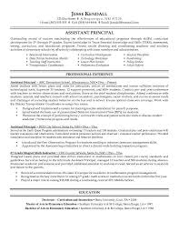 resume template for assistant professional principal resume assistant principal resume sle