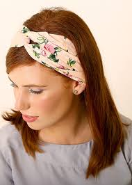 floral headband pink floral headband made of cotton modli