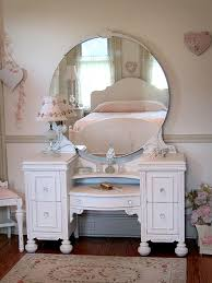 vintage vanity table with mirror and bench enchanting white antique vanity with round mirror and bench vanity