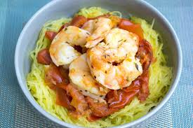 spaghetti squash recipe with roasted tomatoes u0026 shrimp domestic soul