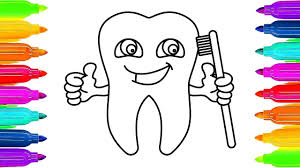 tooth coloring pages how to draw and coloring tooth coloring