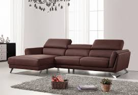 Modern Brown Sofa Casa Doss Modern Brown Eco Leather Sectional Sofa