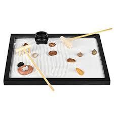 Amazon Com Zen Sand Garden For Desk Office Decor Tabletop