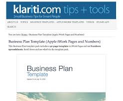 business templates for pages and numbers klariti business plan template bruce tyson