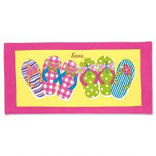 flip flop towel flip flop personalized towel lillian vernon