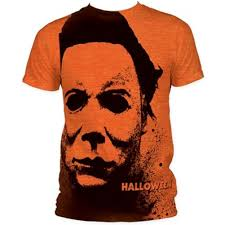 halloween splatter mask mens t shirt