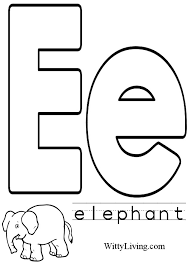 coloring pages letter e kids crafts for kids to make
