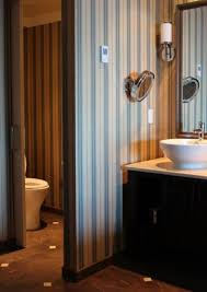 Striped Wallpaper Bathroom Girl Bedroom With Striped Wallpaper Decorating With Striped