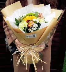 graduation wrapping paper flower wrapping paper bouquet 60cm korean color kraft paper