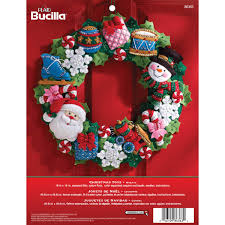 bucilla seasonal felt home decor christmas toys wreath