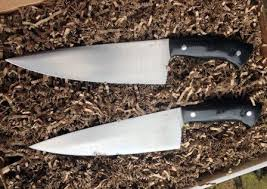 4 8 week long hand forged chef u0027s knife with jason knight