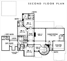 House Plans With Elevators by European Style House Plan 4 Beds 5 50 Baths 5900 Sq Ft Plan 449 3