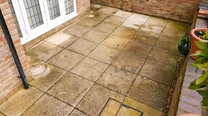 How To Clean Patio Slabs Without Pressure Washer Lichen Black Spots Splodges Ruining Your Patio Or Driveway