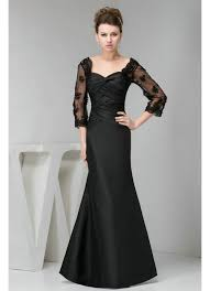 dresses with sleeves for wedding appliques sleeves black wedding guest dress