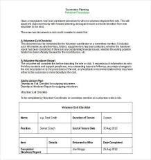 volunteer report template handover report template 20 free word pdf documents