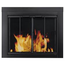 pleasant hearth ascot small glass fireplace doors at 1000 the