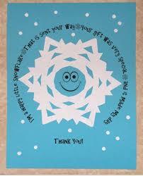 printable snowflake thank you note fun family crafts