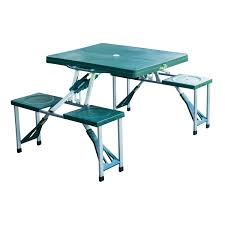 Camping Picnic Table Outdoor Portable Folding Camping Picnic Table With Case Seats Deep