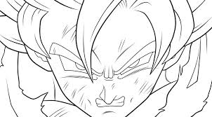 dragon ball coloring pages dragon ball goku super saiyan 2