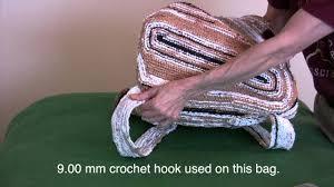 plastic bag crocheted art youtube