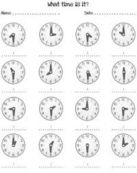 telling time half hour worksheets printable treats for the