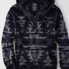 baja sweater mens aeo s textured baja hoodie indigo from eagle