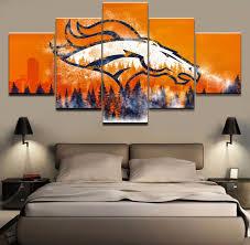 Home Decor Stores Denver Aliexpress Com Buy 5 Piece Canvas Print Denver Broncos Poster