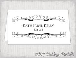 printable name place cards printable place card template tent name card templates