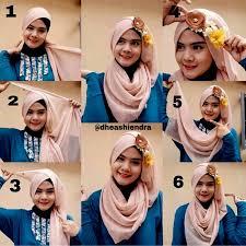 tutorial makeup natural hijab pesta gambar tutorial hijab pesta dengan aksesoris bunga bhjrera77 hijab