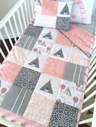 Girls Patchwork Bedding by Patchwork Cot Quilt In Black White U0026 Grey Monochrome With