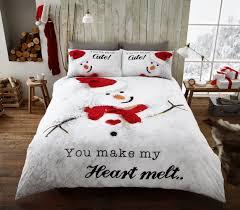 Double Christmas Duvet Christmas Duvet Quilt Cover Pillow Case Xmas Bedding Set Single
