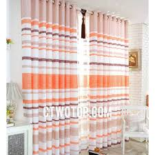 Orange And White Curtains Unique Striped Orange And White Bedroom Curtains