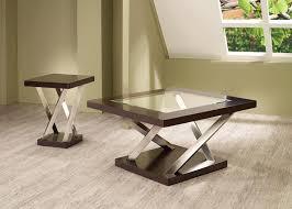 coaster company satin nickel coffee table furniture 701927 end table espresso satin nickel
