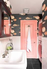 funky bathroom wallpaper ideas 18 pink bathrooms that are downright swoon worthy pink tiles