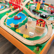 ride around town train table set kidkraft
