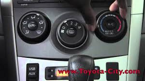 2011 toyota corolla manual air conditioning controls how