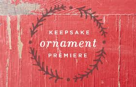 keepsake ornament premiere event hallmark