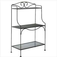 Patio Bakers Rack Iron Bakers Rack For Patio Deck Or Indoors