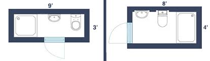 narrow bathroom floor plans visual guide to 15 bathroom floor plans narrow bathroom