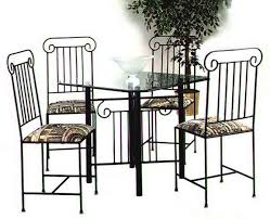wrought iron dining table set dining chairs and tables