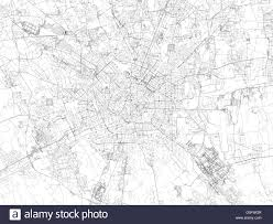 Milan Italy Map Map Of Milan Satellite View Streets And Highways Italy Stock
