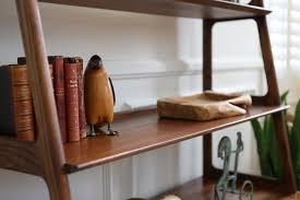 mid century modern walnut u0026 ash bookshelf wall unit bookcase