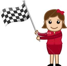 Images Of Racing Flags Cartoon Vector Character Holding A Racing Flag Royalty Free