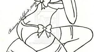 pin up line drawing 60 pin up sketches sensual art